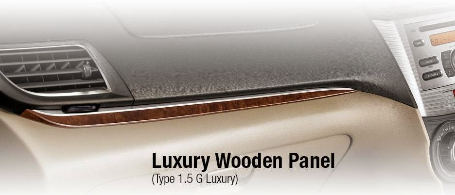 Toyota New Avanza Luxury luxury wooden panel