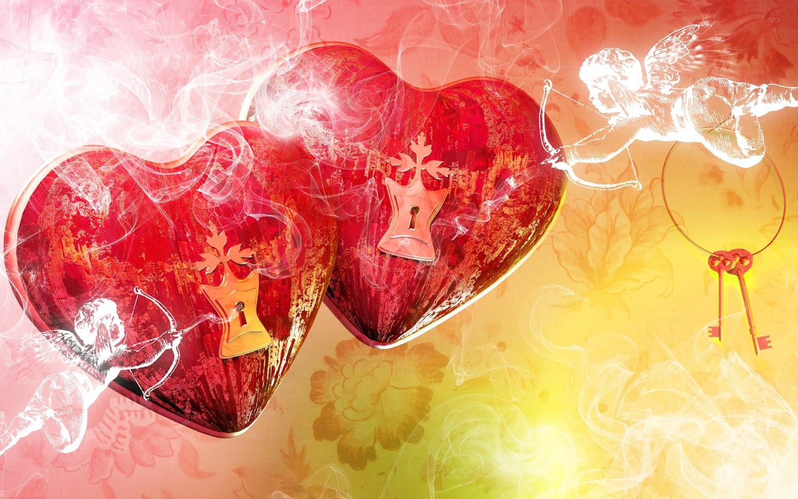 Fondos De Pantalla San Valentin Gratis: Fondo De Pantalla Cerrojo Corazon Dia De San Valentin