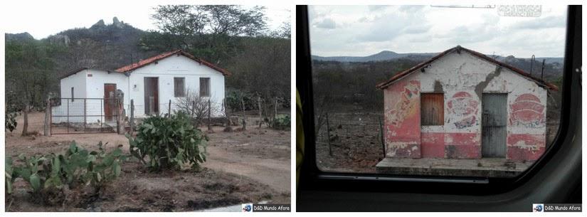 casas na estrada de Cauaru PE