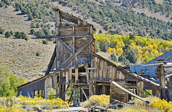 Buildings with interesting shapes at Chemung Mine and Mill