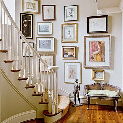 50 Creative Staircase Wall decorating ideas, art frames ... on Creative Staircase Wall Decorating Ideas  id=53076