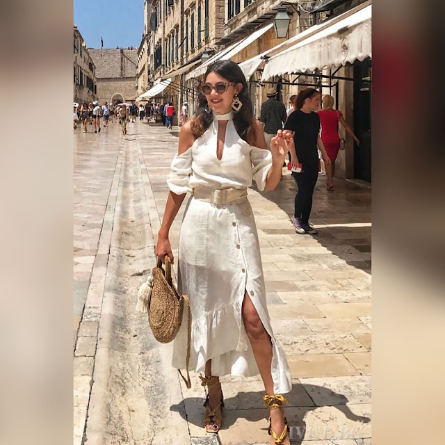 Εντυπωσιακό  άσπρο φόρεμα MERINA