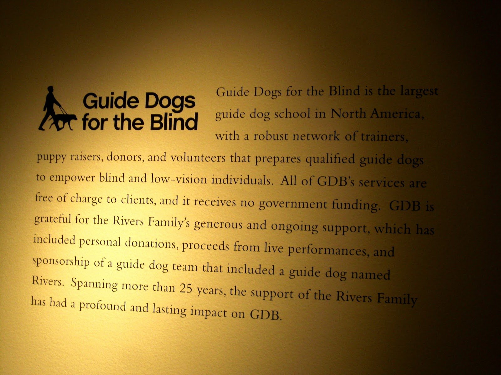 Guide Dogs for the Blind on Joan Rivers' charitable acts [photo/edit by sookietex]