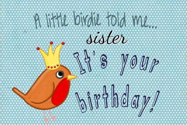 Happy Birthday Sister greeting card image, wallpaper