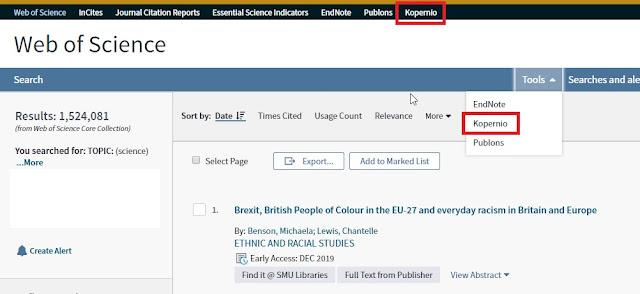 11eadc0183c Kopernio being linked from Web of Science Platform