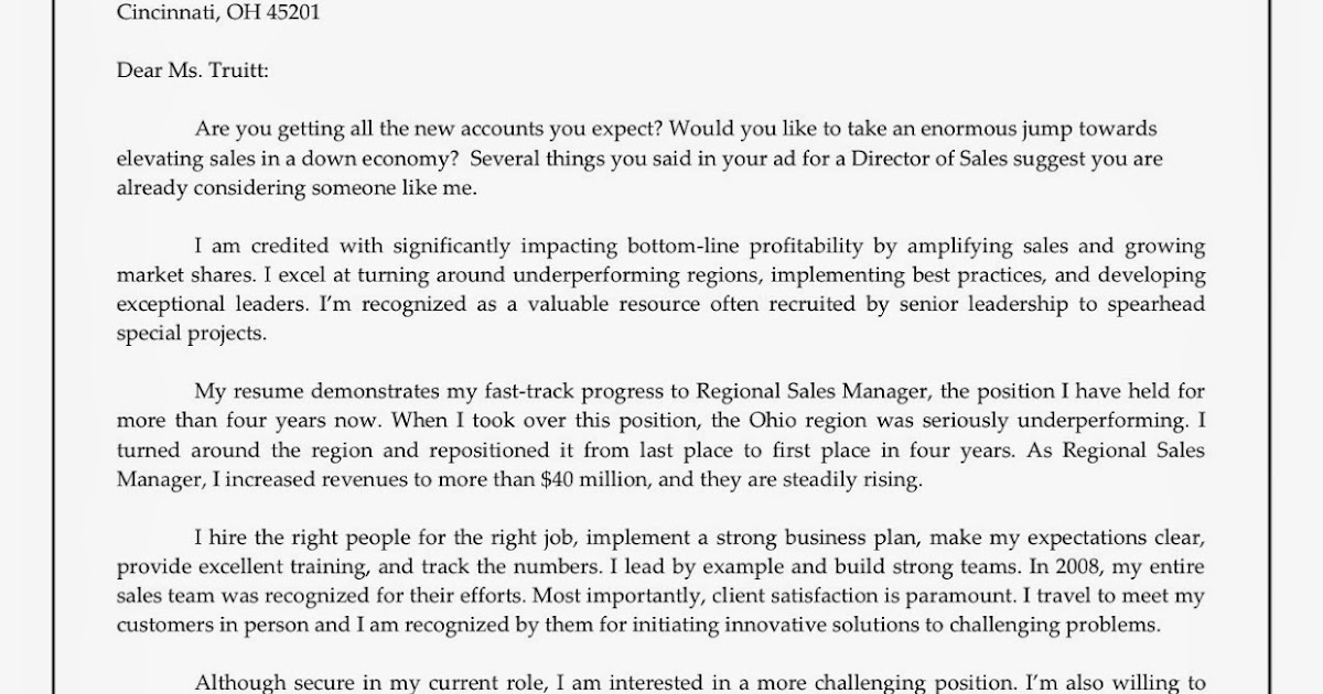 Job Cover Letter Sample for Resume | Sample Resumes