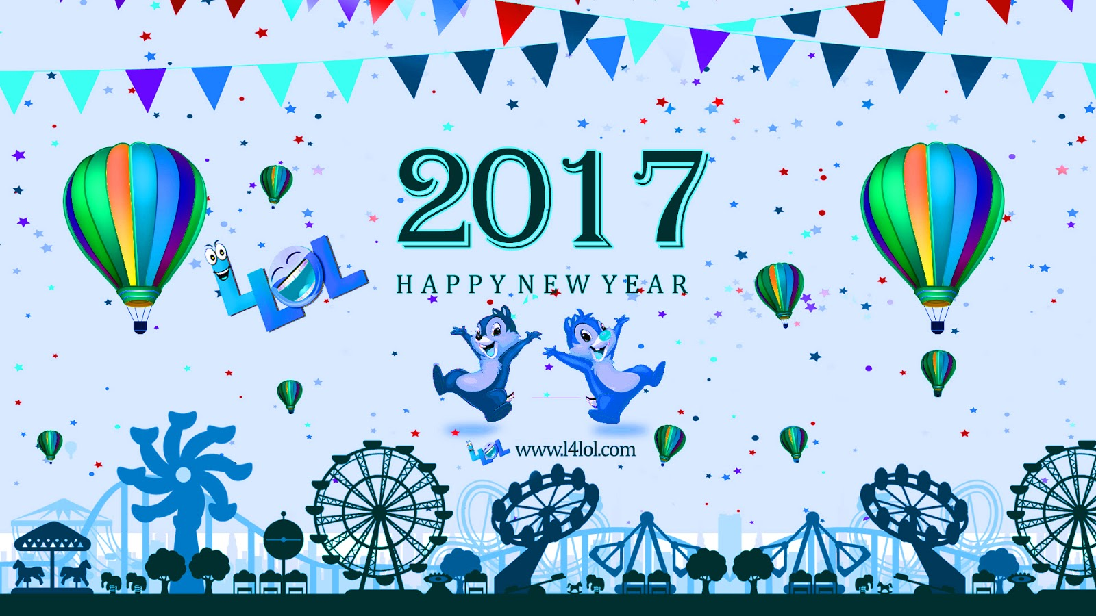 New Year 2017 Greetings Cards