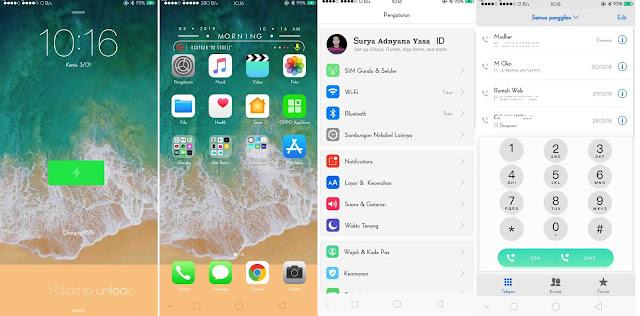 Cara Merubah Tampilan Oppo A83, F5, F7, F9 Menjadi Iphone Tanpa Aplikasi