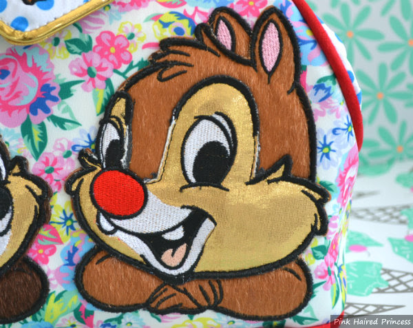 irregular choice disney chip n dale bag dale applique close up