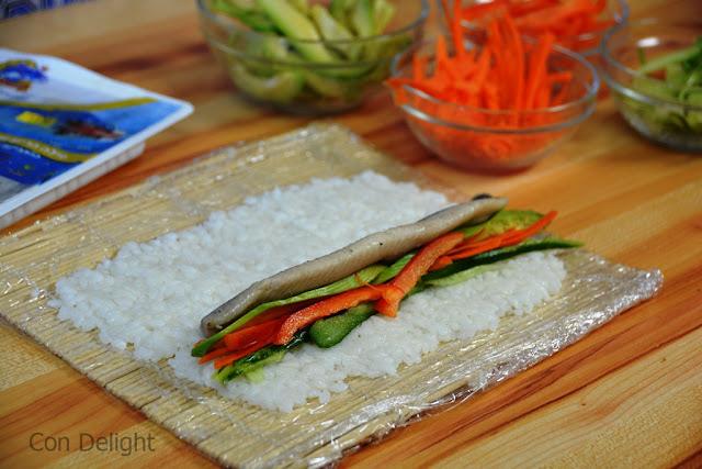 פילה הרינג בסושי herring in sushi roll