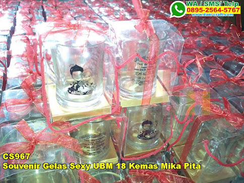 Toko Souvenir Gelas Sexy UBM 18 Kemas Mika Pita