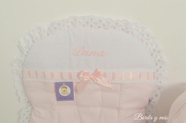 colchoneta rosa blanco bugaboo bee