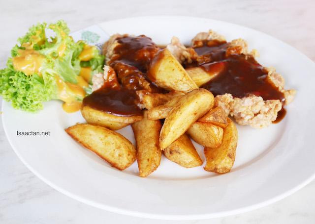 Chicken Chop in Mushroom Sauce - RM14.90