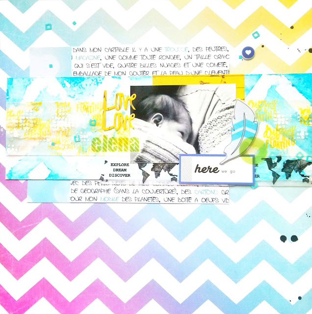 Layout scrapbooking workshop Ojos de Papel