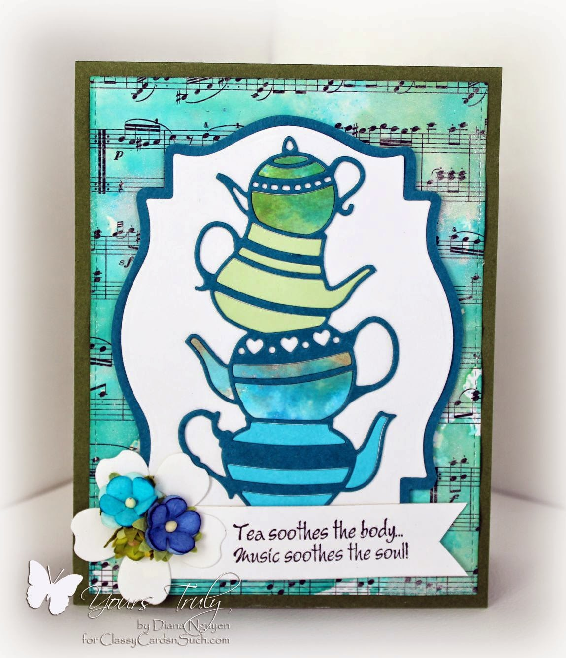 Diana Nguyen, Poppystamps, Our Daily Bread Designs, Teapot Stack, card
