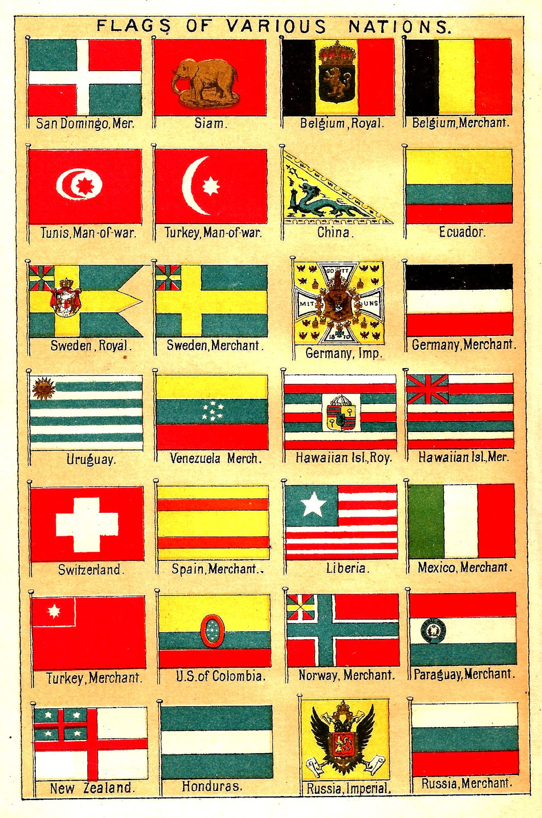Antique Images  Free Flag Clip Art  Antique Illustrations