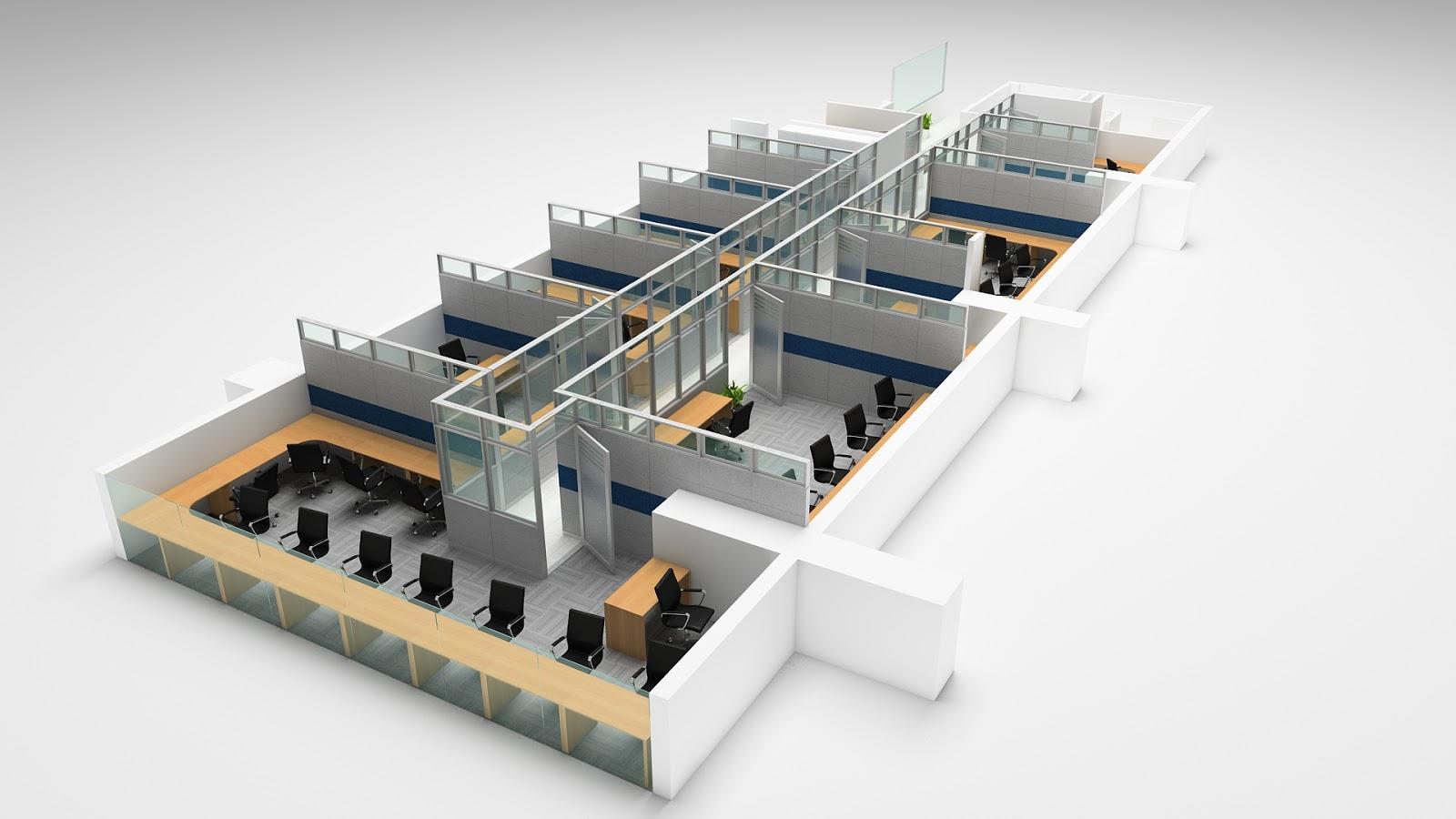 Taty joo 3d design oficinas estudio colmenares for Distribucion de oficinas en una empresa