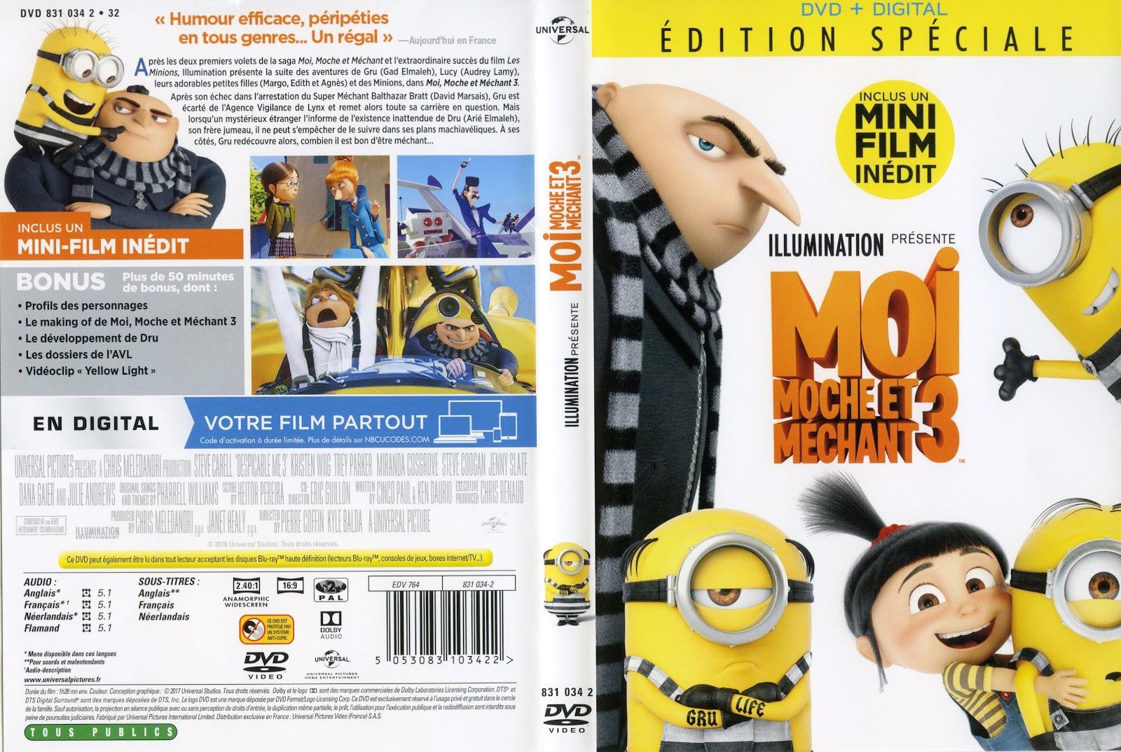 jaquette dvd Moi, Moche et Méchant 3