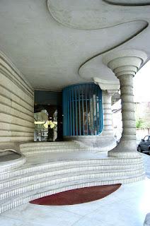 Casa dell'obelisco - elementi curvilinei