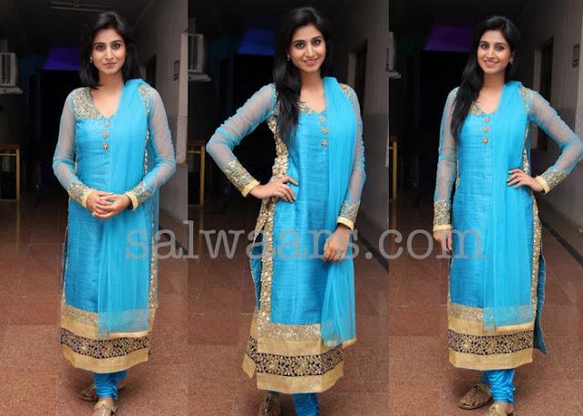Shamili Blue Silk Salwar