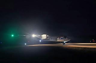 Entrenamiento nocturno en la Academia de Aviación Naval