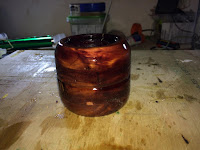 Cedar cylinder all varnished