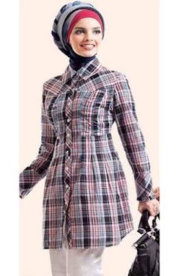 model baju batik modern hijab terbaru