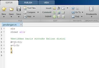 membuat perinta code di file.m matlab