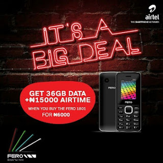 Crazy Deal: Buy Fero F1801 For Just N6000 And Get 36GB Data + N15,000 Airtime From Airtel NG
