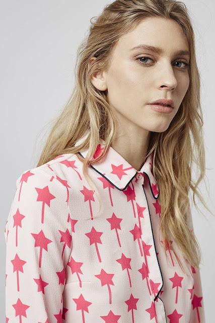 pink star shirt,