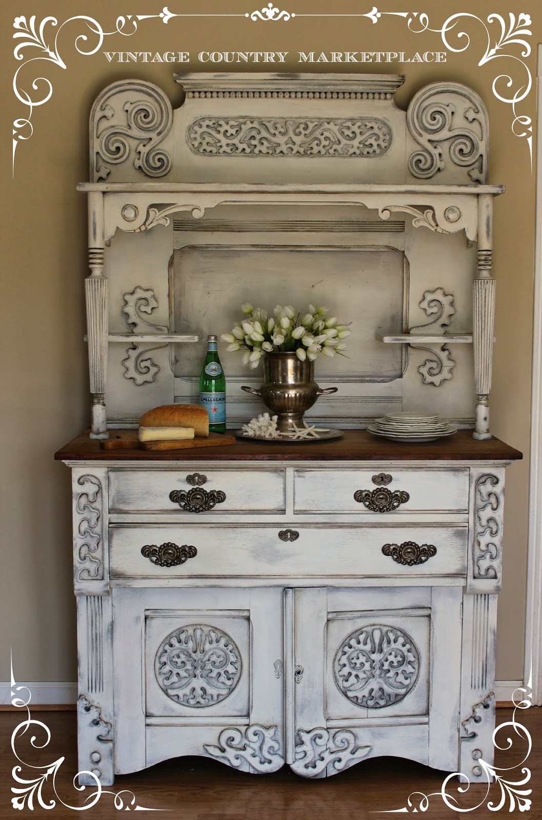 Vintage Country Style European Sideboard Make Over Annie