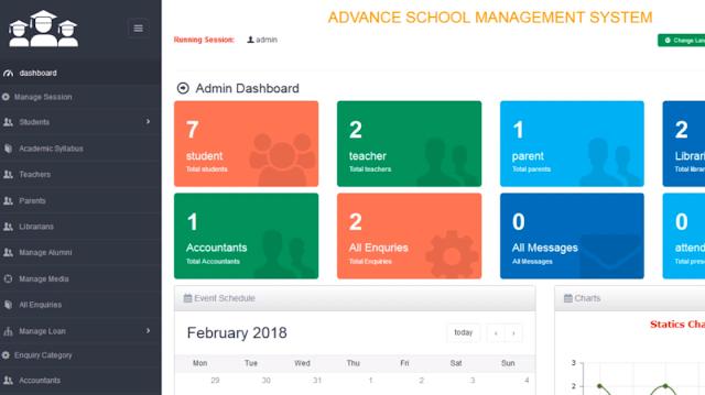 سكربت إدارة المدارس School Management System advanced