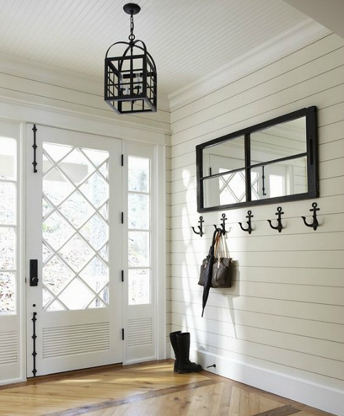 Black and White Nautical Entryway