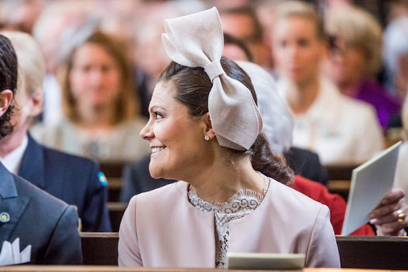 "Crown Princess Victoria, Prince Daniel, Prince Carl Philip attended the ""Te Deum"" church service"