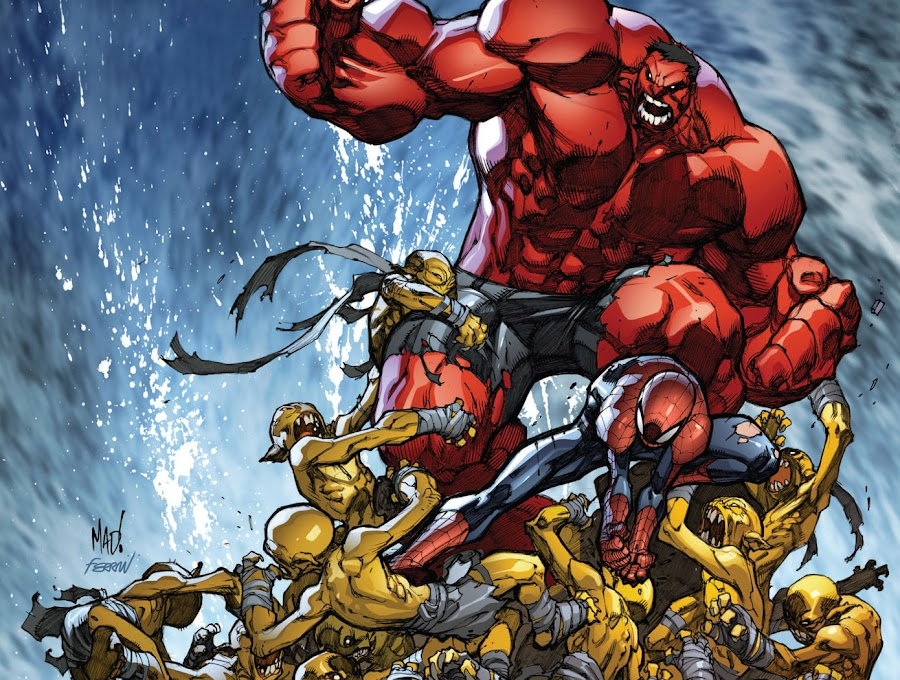 avenging spider man red hulk marvel comics