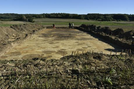 Burnt down Iron Age house discovered in Denmark