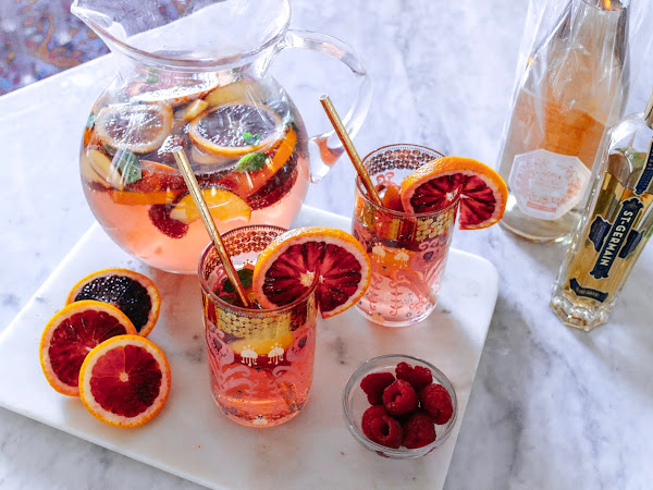 Peach and Blood Orange Rosé Sangria