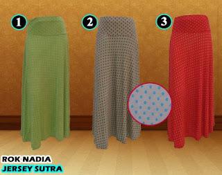 Rok payung bahan spandek sutra motif termurah