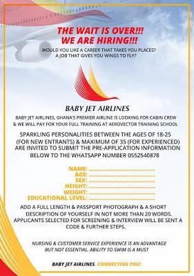 Asamoah Gyan's BabyJet Airlines Begin Recruitment In Ghana