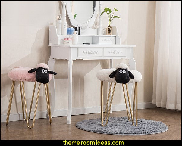 lamb makeup stool lamb wash stool Nordic designer furniture vanity stool nail shop stool
