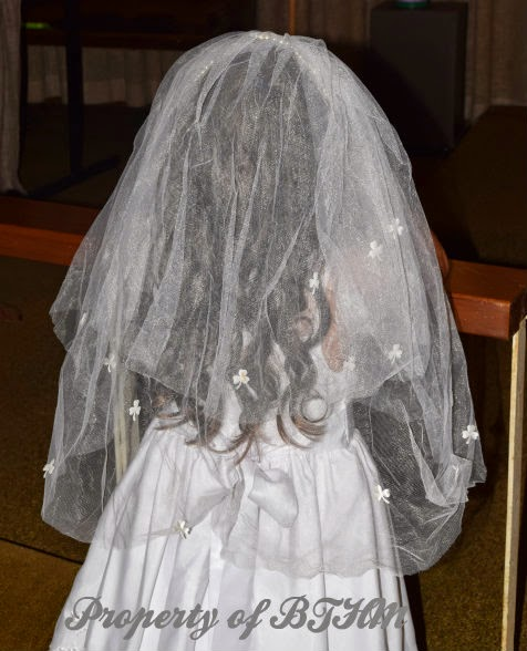 miss grace first communion veil
