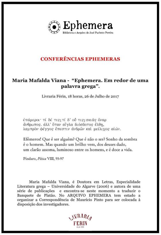Conferência Ephemera