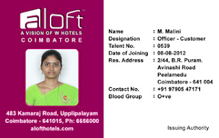 Vertical Identity Card Template-Hotel id card design - 02