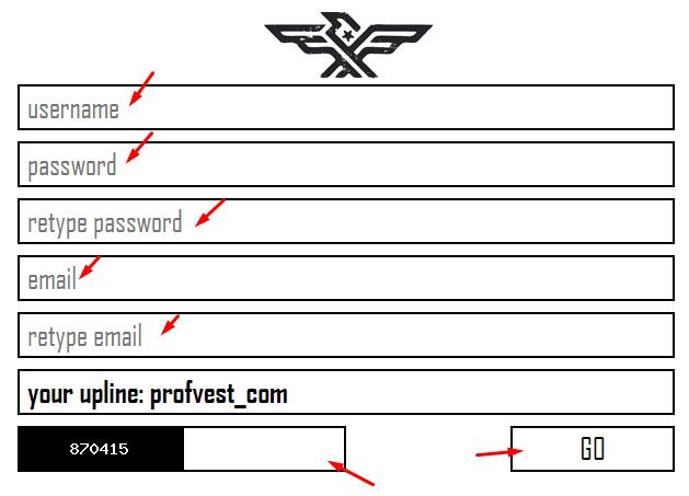 Регистрация в FireMarket