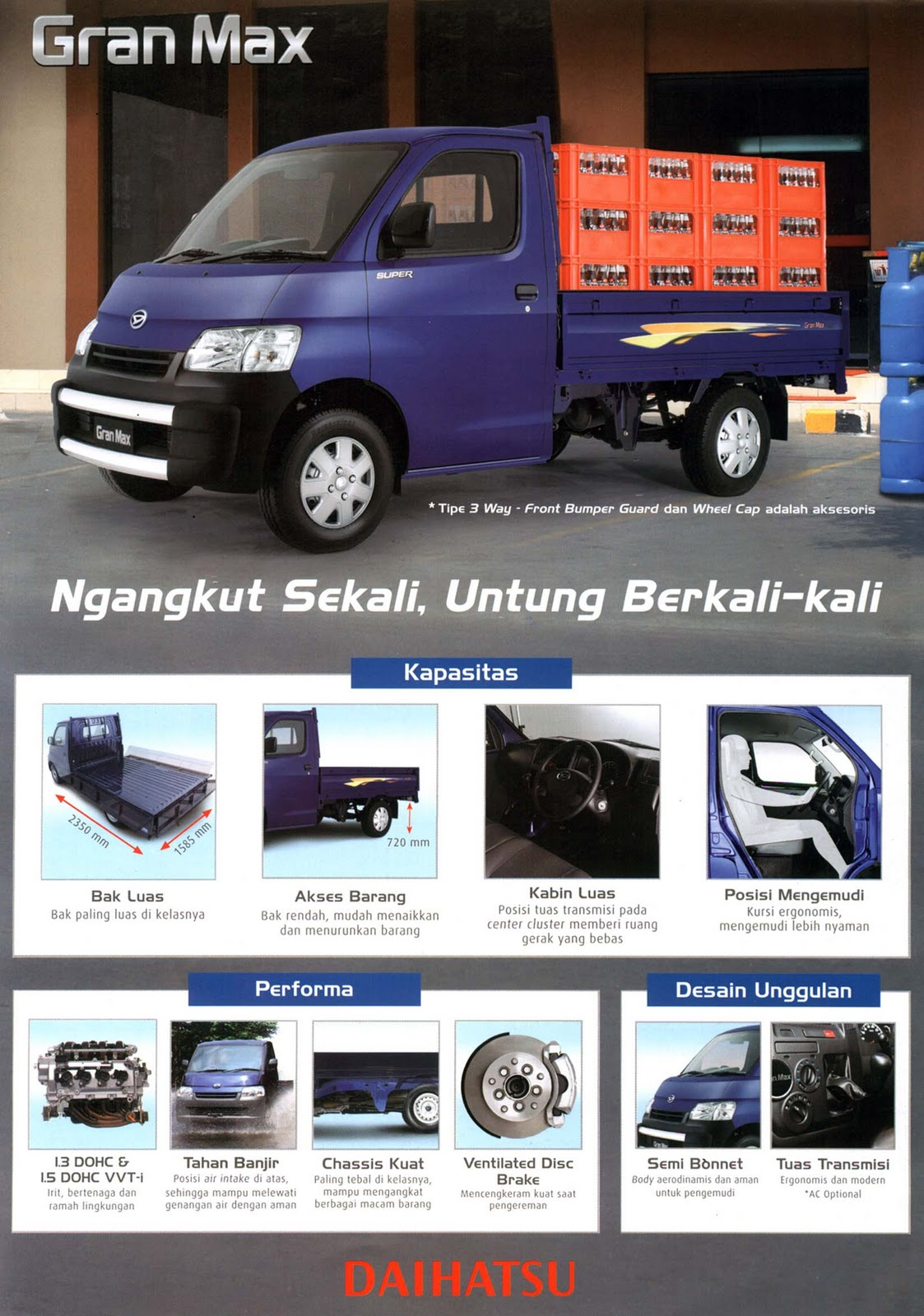 Jual New Daihatsu Gran Max Wooden Cargo Wiring Diagram Luxio Kredit Granmax Pick Up