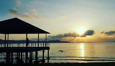 Senja indah di pantai Marine Eco Park