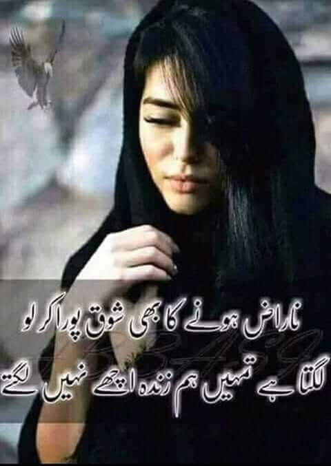 Naraz Hony Ka Bhi Shoq Pora Kar Lo - Urdu 2 Lines Romantic Poetry Images - Poetry Wallpapers - Poetry Pics - Urdu Poetry World