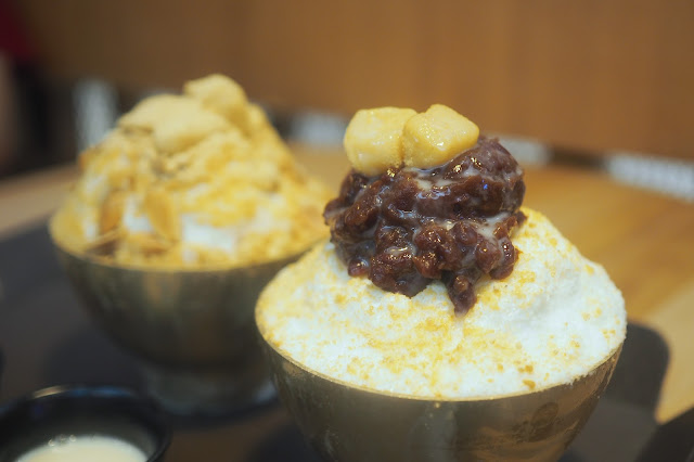 injeolmi bingsu (인절미빙수) and pat bingsu (팥빙수) Review Singapore
