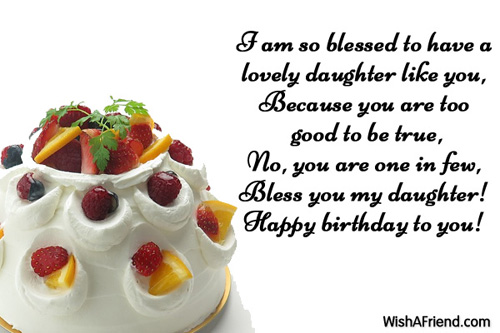 Happy Birthday Wishes For My Daughter