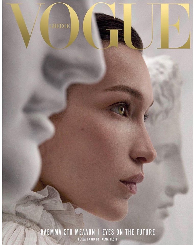 Bella Hadid is the cover of the first Vogue Greece